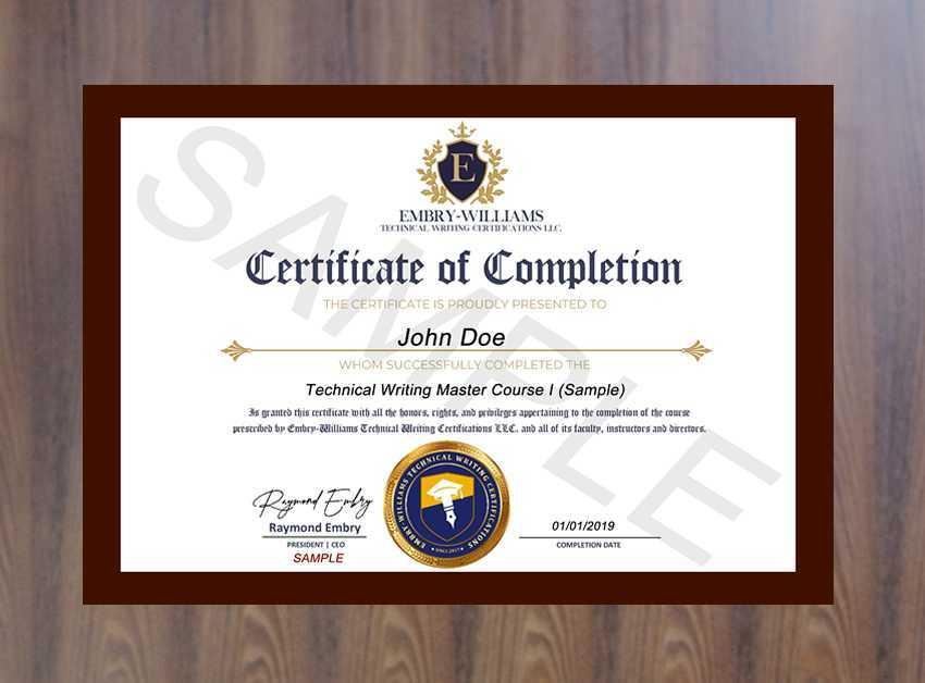 Professionally Printed 811 Certificate In Elegant Brown Wood