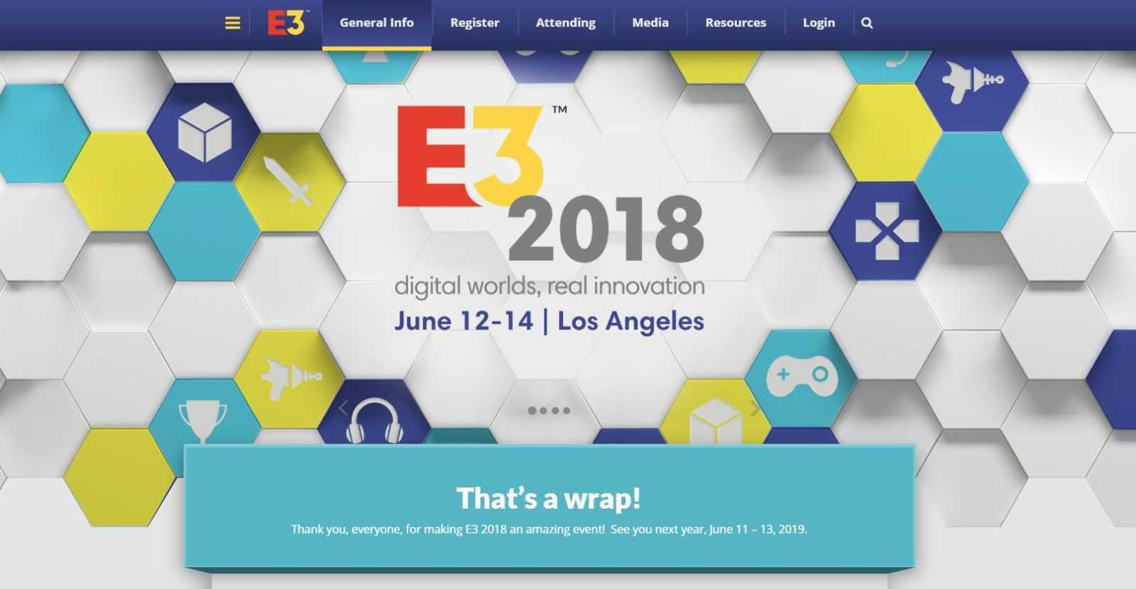 e3 schedule 2019